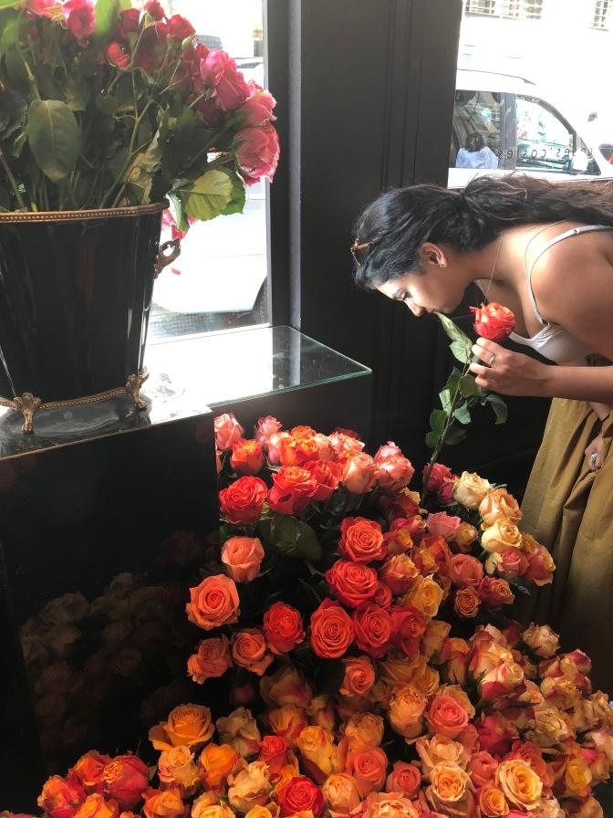 Roses Costes on 239 Rue Saint-Honoré. Paris, France