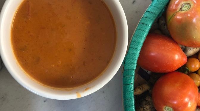 Fresh Tomato Carrot Soup