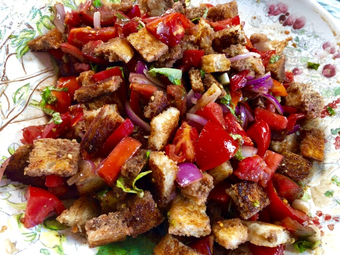 Panzanella. Fresh Tomato and Bread Salad