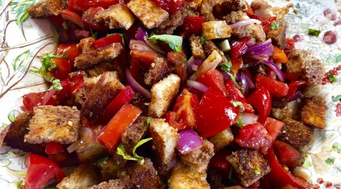 Panzanella. Fresh Tomato and Bread Salad