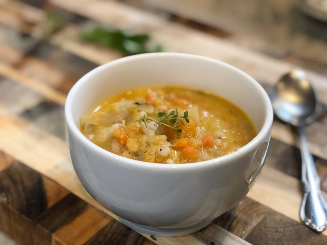 Fall and Winter Inspired Vegetable Barley Soup