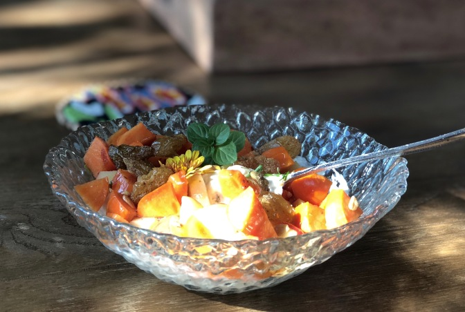 Herbed Greek Yogurt with Crunchy Fruit & Granola