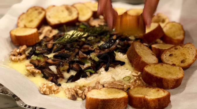 Wild Mushrooms & Leeks with Melted Brie