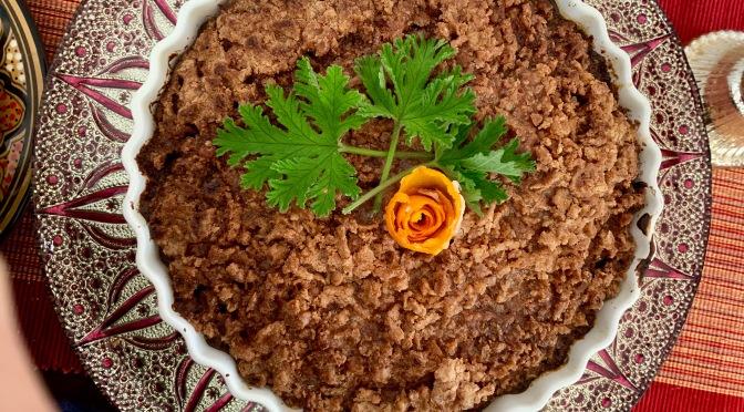 Moroccan Orange Coffee Cake with Cinnamon Crumble Topping.