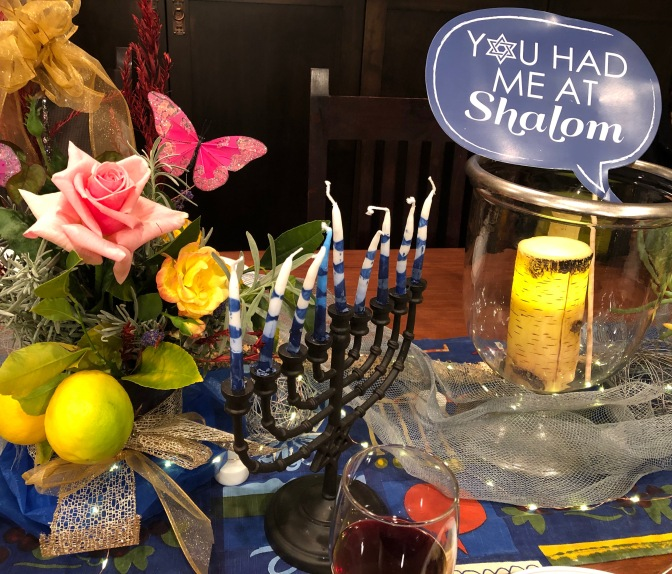 Celebrating Hanukkah at Rose and Dave's. 2018