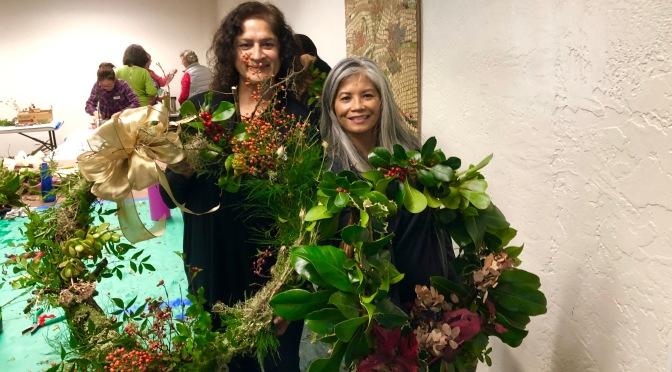 Wreath Making at Guadalupe Park Garden Conservancy. San Jose, California