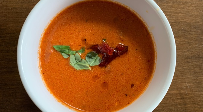 Oven Baked Tomato Bisque for a Valentine's Day Lunch