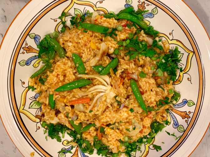 Spring Vegetable Paella