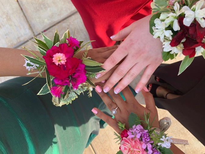 Homemade Corsages and the Twins Junior Prom