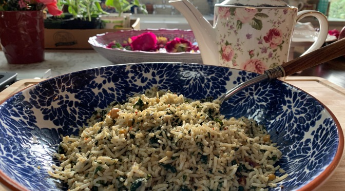 Spinach and Swiss Chard Rice
