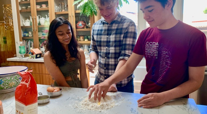 Making Fresh Bow Tie Pasta with Friends