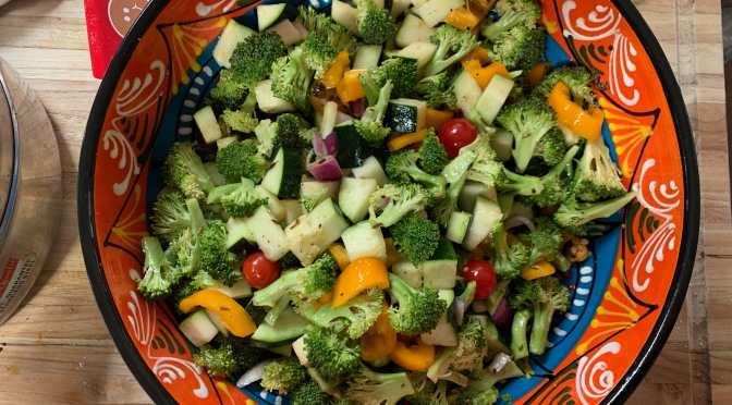 Broccoli Zucchini Salad with Asafetida Cumin Vinaigrette