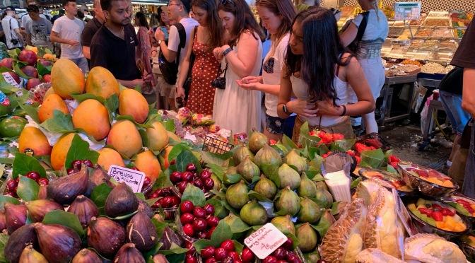La Boqueria Market. Barcelona, Spain