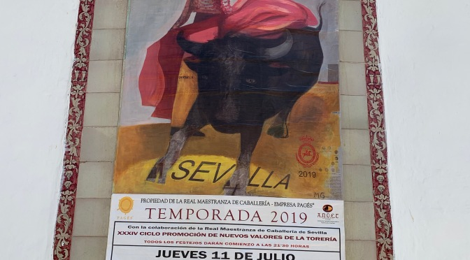 Bull Fighting Arena. Plaza de Toros de la Real Maestranza in Seville, Spain