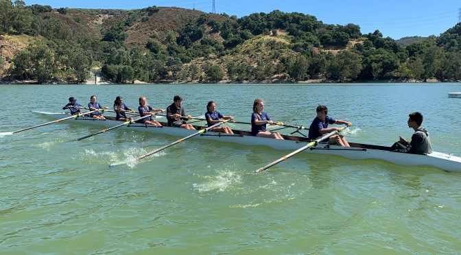 Rowing at Lexington Reservoir with the Los Gatos Rowing Club in the Santa Cruz Mountains