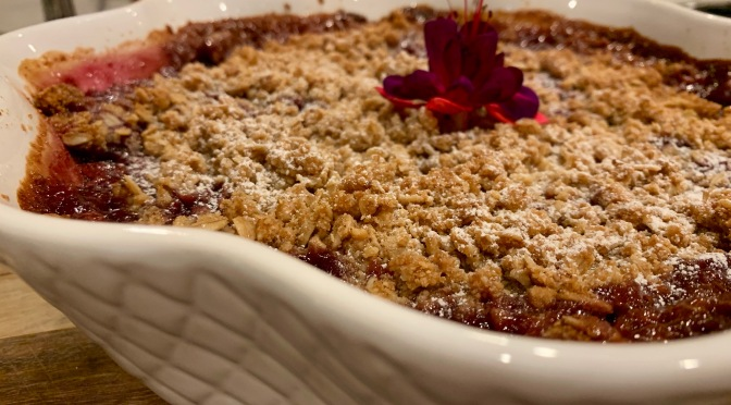 Peach, Plum and Nectarine Oat and Nut Crumble