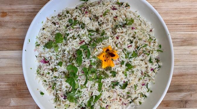 Nasi Ulam. Malaysian Herb Scented Rice Salad