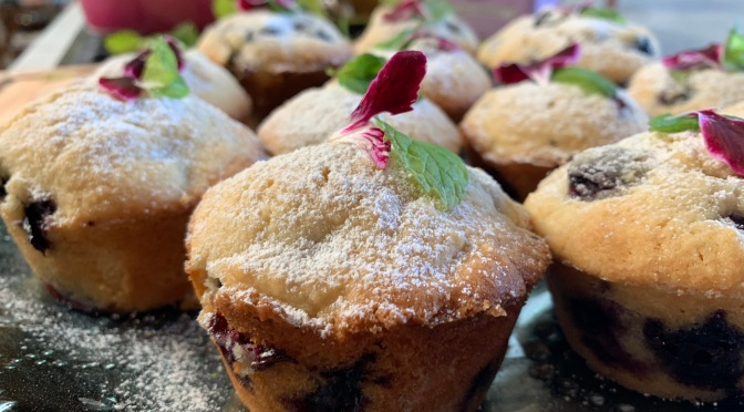 Light and Fluffy Blueberry Muffins