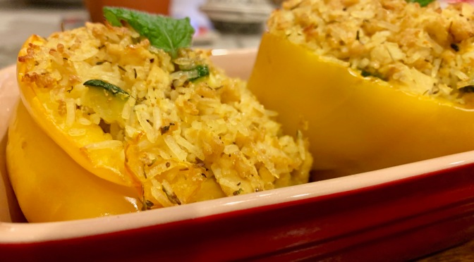 Stuffed Peppers with Herbed Tofu