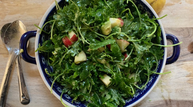 Kale Apple Avocado Salad