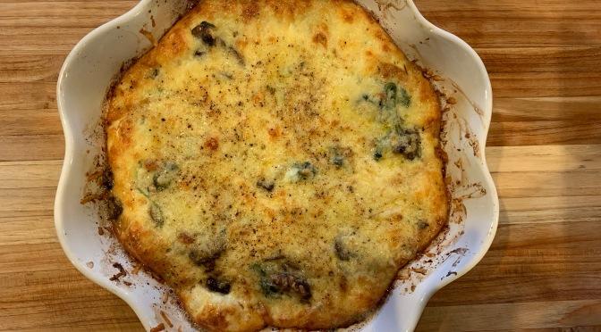 Mushroom Pepper Kale Veggie Quiche