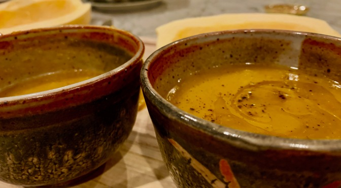 Butternut Squash and Celery Onion Soup