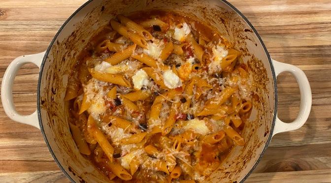 Eggplant Fennel Pasta Bake