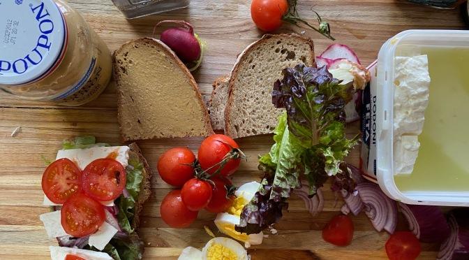 Indian Style Eggs & Parisian Style Sandwich