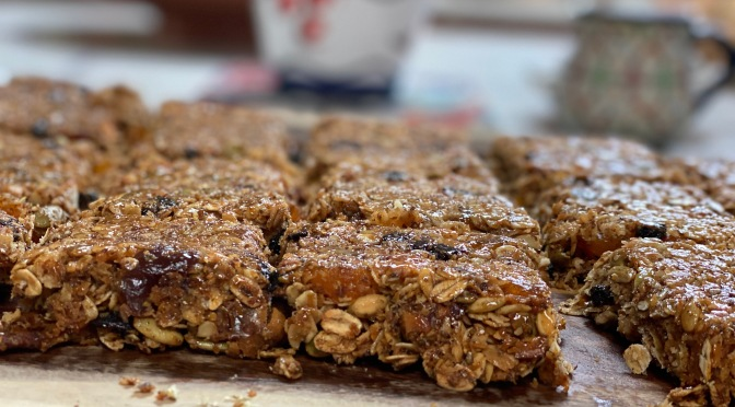 Homemade Granola Bars with Dried Fruits and Superseeds