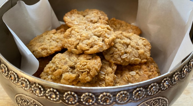Australian and New Zealand Army Corps Biscuits – ANZAC Cookies.