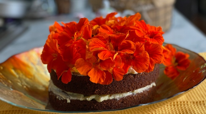 Nasturtium Blossom Hummingbird Cake