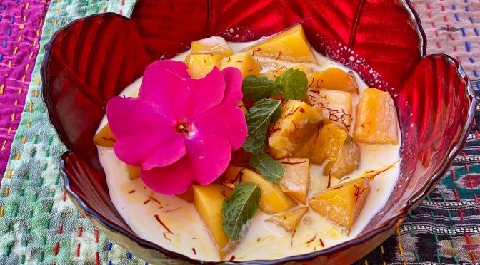 Saffron Mango and Cream